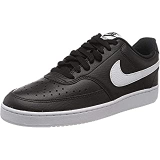 Nike Men's Court Vision Low Sneaker, Black/White-Photon Dust, 6 Regular US