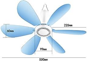 LYNN Mini Ventilador de Techo,Mudo Micro Ventilador,Aspa de ...