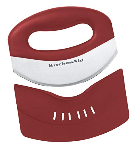 (KitchenAid KC173OHERA Mezzaluna with Stainless Steel Blade and Protective Sheath, Red)