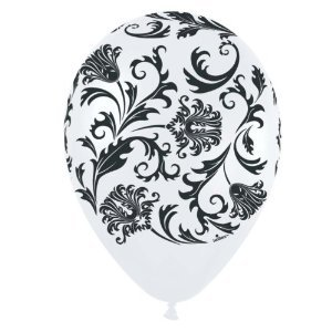 Qualatex- Damask Pearl White Latex Balloons -