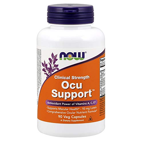 NOW Supplements, Ocu SupportTMwith FloraGLO® Lutein, plus Vitamins A, C and E, 90 Capsules (Best Food For Eyes Vision)