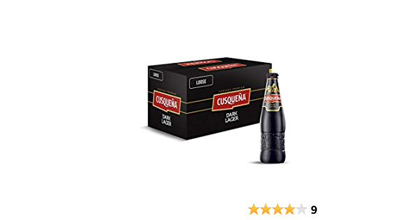 caja 24 botellas x 33cl Cerveza Cusqueña Dark Lager 7920 ml