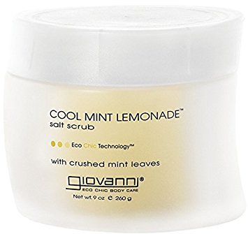Giovanni Cool Mint Lemonade Salt Scrub, 9 Ounce - 3 per case.