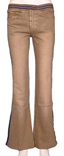 Vaqueros Mujer Waistband Para Shop Boot Pantalones Lets Brown Cut Aa54qOxxw