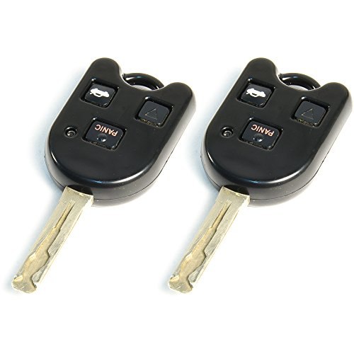 (STAUBER Best Lexus Key Shell Replacement - HYQ1512V, HYQ12BBT - NO Locksmith Required Using Your Old Key and chip! - 2 Pack (Black))