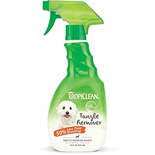 TropiClean Sweet Pea Tangle Remover Spray for Pets, 16oz - Detangler for Pets, Alcohol Free, Paraben Free, Dye Free, Made in the USA