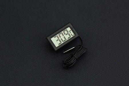 Venel--Digital Thermometer,2 Meters Waterproof Probe. Suitable for Greenhouse,Fish Tank,Swimming Pool and Other Application Scenarios Which Require Temperature Measurement.