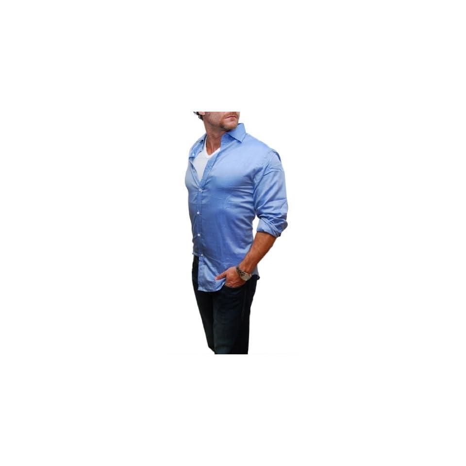 Polo Ralph Lauren Purple Label Mens Blue Cotton Dress Shirt Italy at  Men's Clothing store