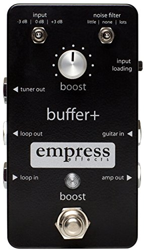 Empress Effects Buffer+ Analog I/O Interface Guitar Pedal with Switchable Boost by Empress Effects