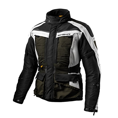 Vented Touring Jacket (SHIMA HORIZON, Men's Travel Waterproof Touring Protective Vented Motorcycle Jacket (S-3XL) (L, Khaki))