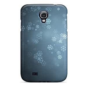 For Galaxy S4 Tpu Phone Case Cover(snowflakes Background)