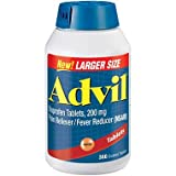 Advil Pain Reliever/Fever Reducer, 200mg Ibuprofen, Special Larger Size 4 Pack ( 360-Count Each )