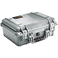 Pelican 1450 Case With Foam (Silver)