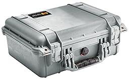 Pelican 1450 Case with Foam (Camera, Gun, Equipment, Multi-Purpose) - Silver
