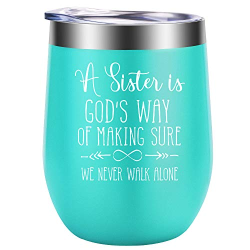 Sister Gifts from Sister - God Gifts, Religious Gifts for Women - Sister Gifts, Little, Soul, Big Sister Gifts - Sister Birthday Gift, Christmas Gifts for Sister, Bestie - GSPY Sister Mug Wine Tumbler