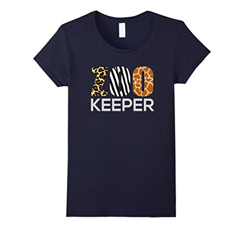 Safari Costume Womens (Womens Zoo Keeper Safari T-Shirt Fun Gift For Animal Lover Costume Large Navy)