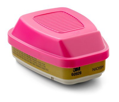 3M Multi Gas/Vapor Cartridge/Filter 60926, P100 Respiratory Protection 5 Pair Pack ()