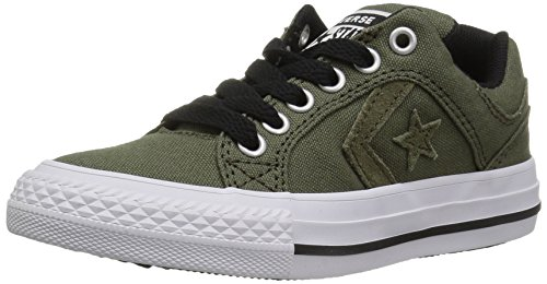 Converse Boys' El Distrito Suede Low Top Sneaker,hunter green/white,12 M US Little Kid ()