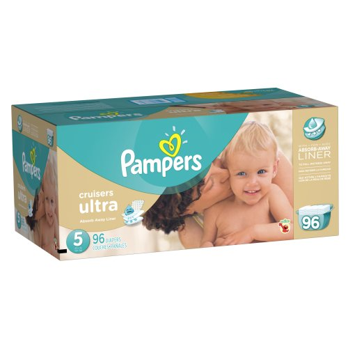 Pampers Cruisers Ultra Diapers Size 5 Economy Pack 96 Count by Pampers