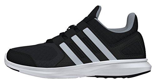 adidas Hyperfast 2.0 K, Zapatillas de Deporte para Niños, Negro (Negbas / Plamet / Gris), 37 1/3 EU