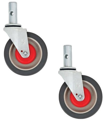 Magliner Gemini Set of 2 Replacement Swivel Casters with 5'' Wheels for Jr or Sr