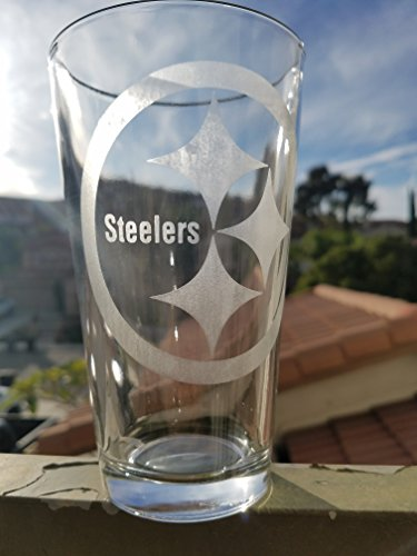 (Steelers NFL Pittsburgh Pint Glass Beer Cup)