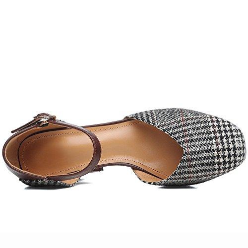 i in piccole AJUNR Donna tacchi e sono e Alla baotou alti nuova Da freschi black da Sandali Moda con spesso donne estate scarpe zxawzOq