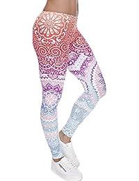 Digital Printed Women's Full-Length Yoga Workout Leggings...