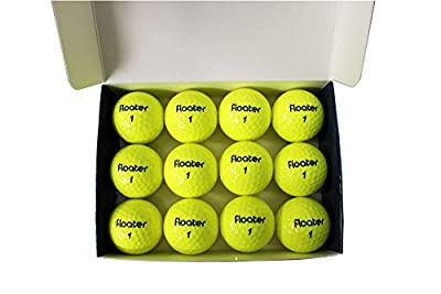 PG Professional Golf Floater New Floating Yellow Golf Balls (Pack 12)
