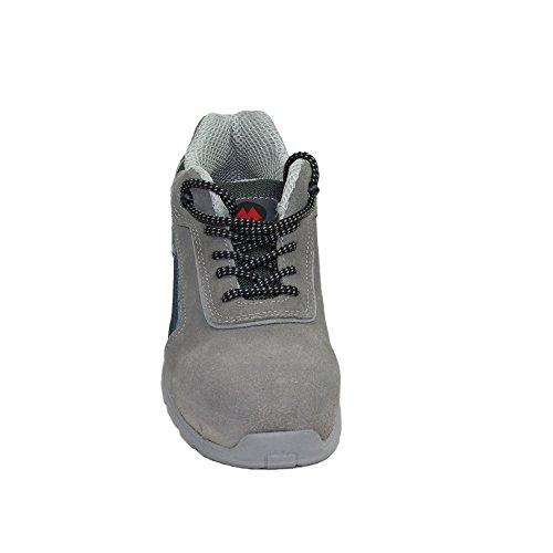 AIMONT - Calzado de protección de Piel para hombre Gris gris gris