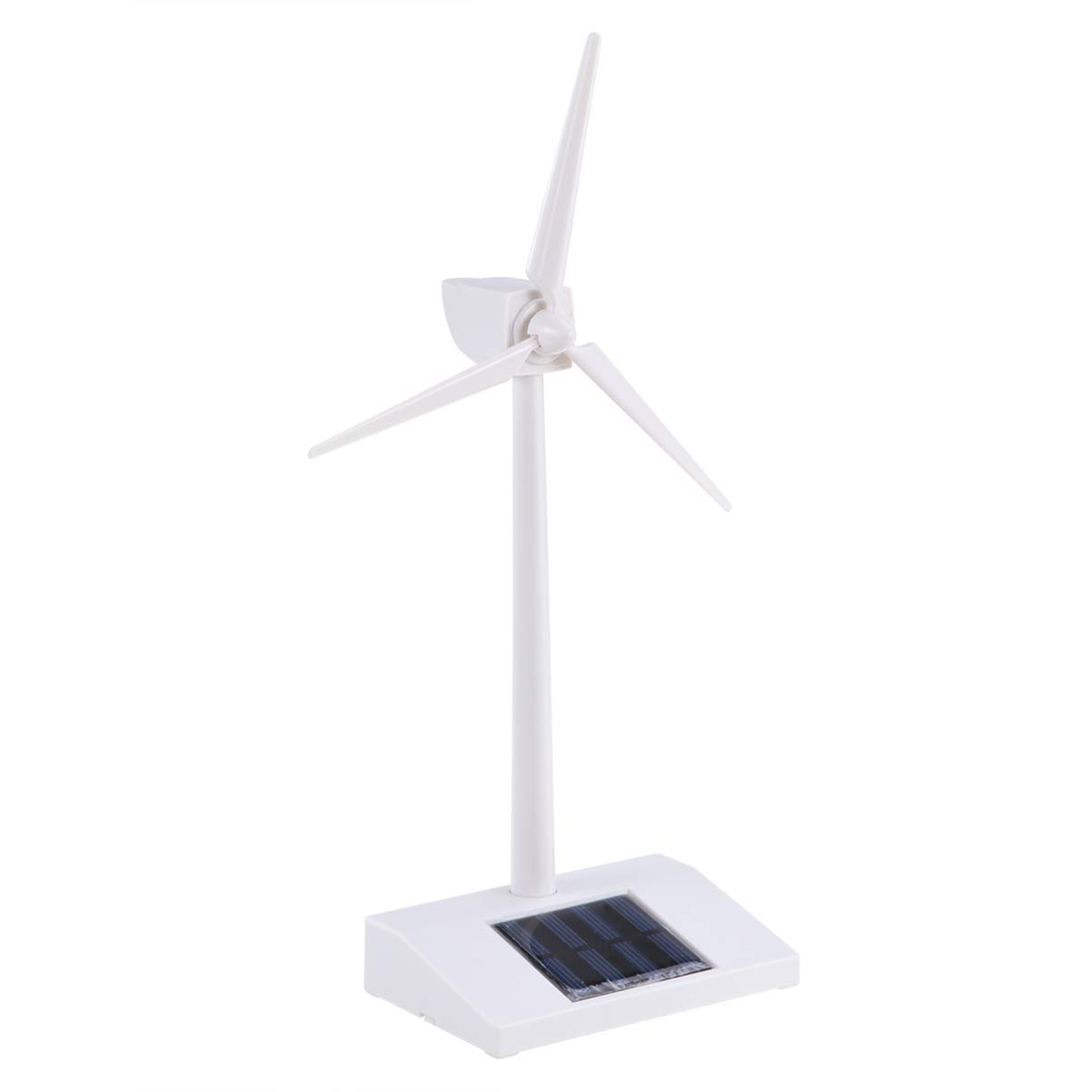 STOBOK ABS Plastics White Solar-Energy Windmill Desk Ornament Wind Turbine Model Windmills Model for Kids Education Fun and Education Children Education by STOBOK