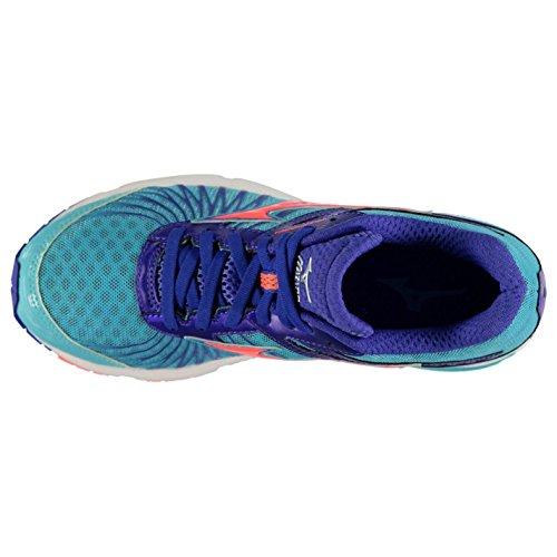 Mizuno Wave Sayonara 4 Running Shoes Damen Grn/blau/Cor Trainer Sneakers