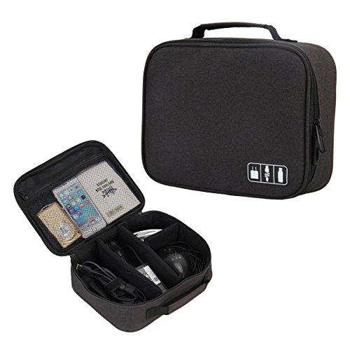 Veevan Accessori Elettronici Portatili dell'Organizzatore di Corsa Carry Case(Nero)