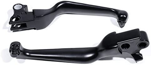 Brems Kupplungs Handhebel Totenkopf Skull Schwarz Für Harley Softail Dyna 1996 2014 Auto