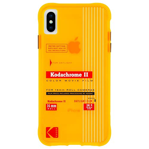 Kodak x CASE-MATE - iPhone X/XS Case - Kodak Vintage Kodachrome II Print Case