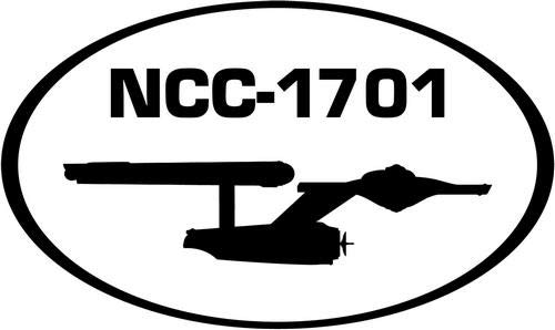 (Mandy Graphics NCC-1701 Star Trek USS Enterprise Spaceship Vinyl Die Cut Decal Sticker for Car Truck Motorcycle Windows Bumper Wall Home Office Decor Size- [20 inch/50 cm] Wide and Color- Gloss Black)