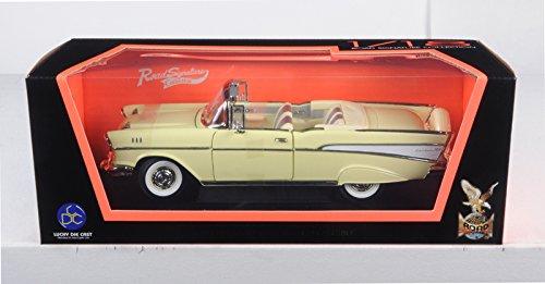 1957 Chevrolet Bel Air Convertible Cream 1/18 by Road Signature 92108