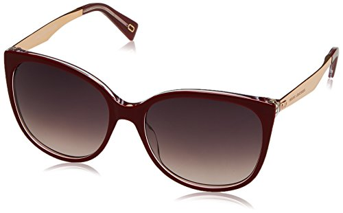 Marc Jacobs Women's Marc 203/S Opal Burgundy With Brown Gradient Lens - Jacobs Heart Marc Sunglasses