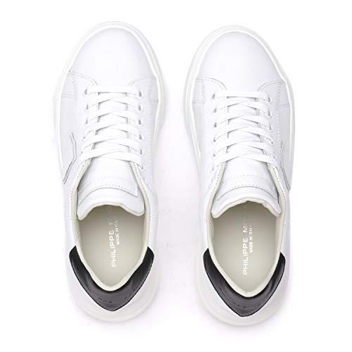 In Philippe Basket e Temple Model Dimensioni UK nera bianca pelle Model qCrwCx1I