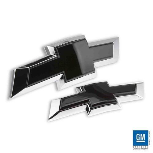 Billet Bowtie Emblem Combo Kit (Front + Rear) 2015-2018 Chevy Tahoe, Chevrolet Suburban (Black) (Rear Bow Tie Emblem)