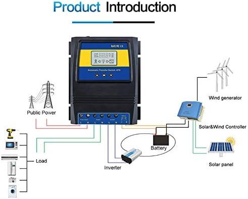 Noblik Automatische ATS Dual Power Transfer Switch Solar Laderegler für Solar Wind System 12 V 24 V 48 V AC 110 V 220 V ein/Aus Netz