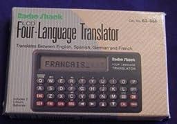 Radio Shack Four Language Translator Pocket Size