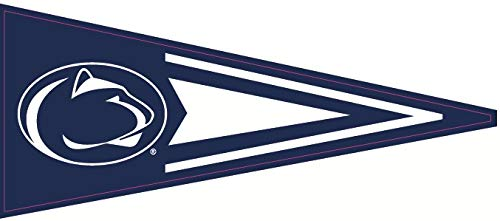 9 Inch Penn State Pennant Decal Flag Nittany Lions Pennsylvania University PSU Removable Repositionable Peel Self Stick Wall Sticker Art NCAA Home Room Decor 9 by 4 inches ()