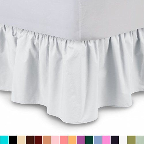 Ruffled Bed Skirt  21 Inch Drop Bedskirt with Platform, Wrin