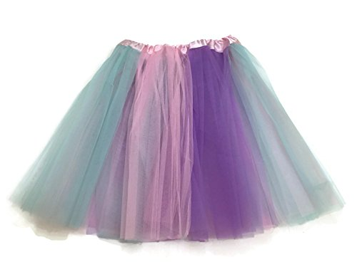 Rush Dance Multi Color Women's PLUS SIZE Costume Ballet Warrior Dash Run Tutu (Adult, Pastel Colors (Easter)) -