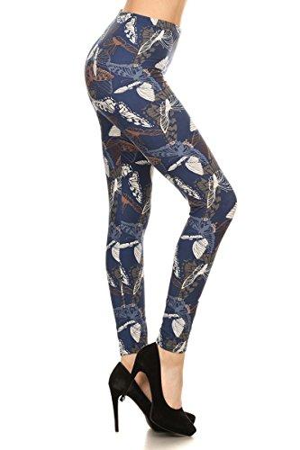 Leggings Depot Yoga Waist REG/Plus Women's Buttery Soft Leggings BAT2 (Butterfly Basics, One Size (S-L/Size 2-12))