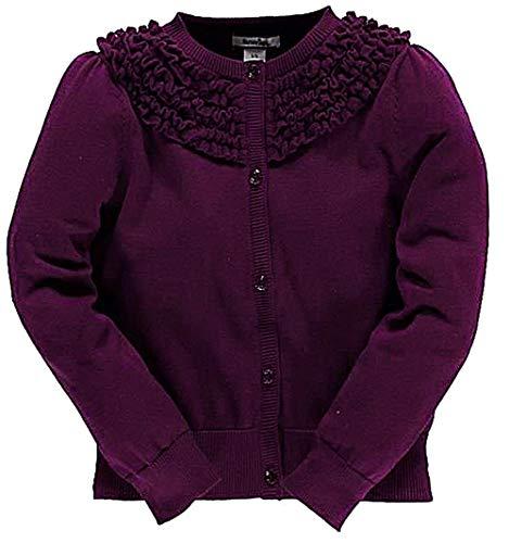 Hartstrings Girl's Button-Down Soft Knit Cardigan K-9 (3T, Violett)