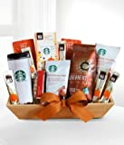 Starbucks Christmas Gift - eshopclub Same Day Christmas Flower Basket Delivery - Online Christmas Basket - Christmas Flowers Basket & Plants - Send Christmas Basket
