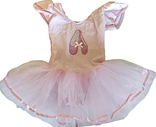 Astage Little Girls Short Sleeve Ballet Tutu Leotard