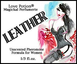 Love Potion: Leather ~ UNscented Pheromone Blend for Women - 1/3 fl.oz. Roll On-Oil (Blend Oil Magickal)